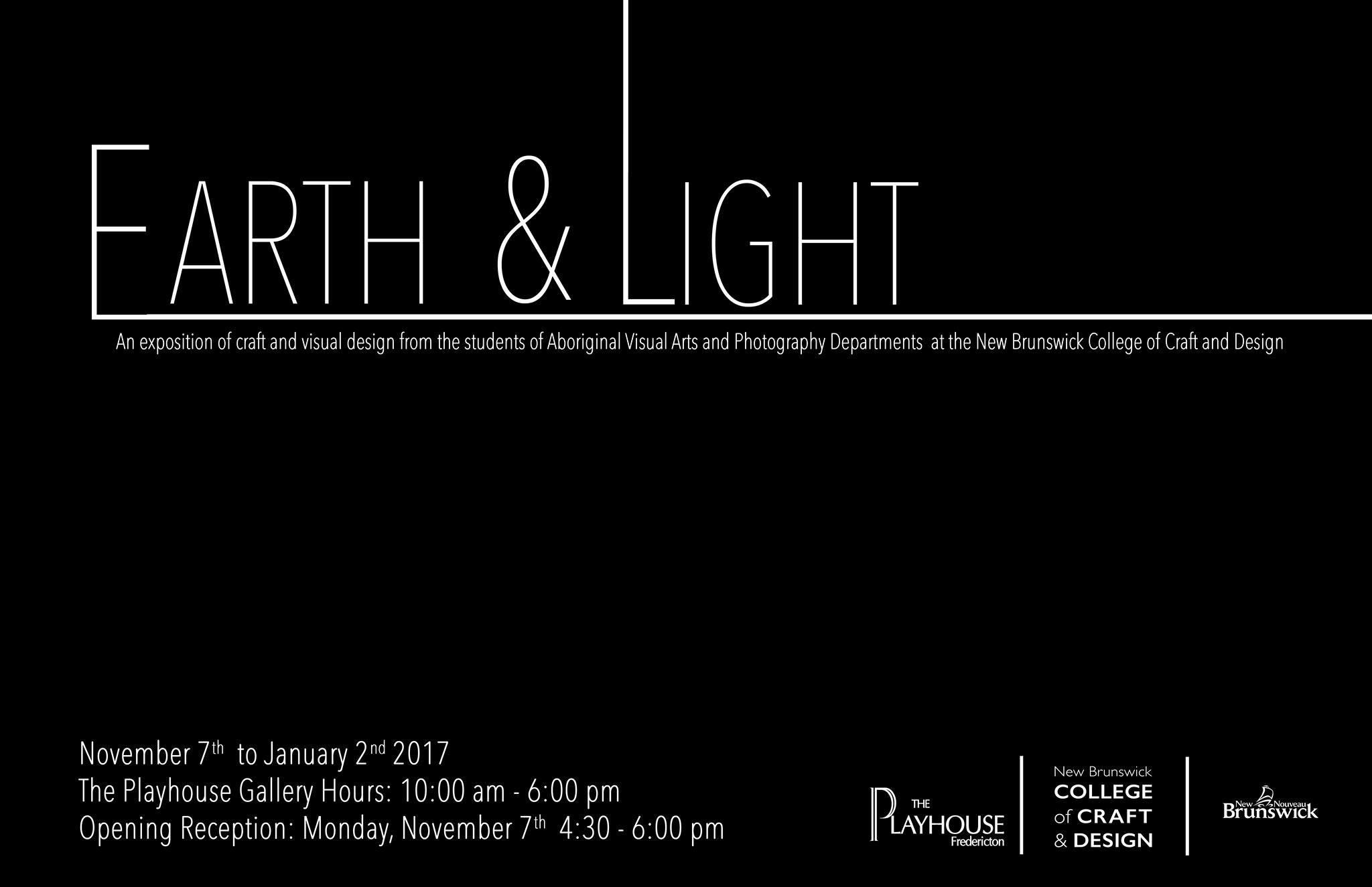Earth & Light  Fredericton Playhouse Gallery November 2016