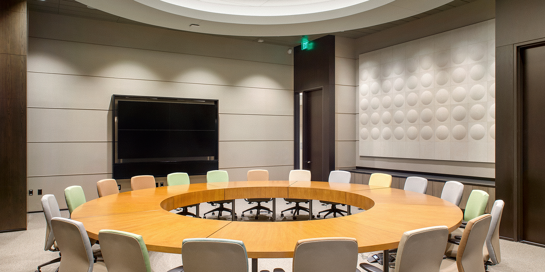 Cash America Team Conference and Learning Center   Fort Worth, Texas. Install by Infinity Sound of Grand Prairie, Texas.