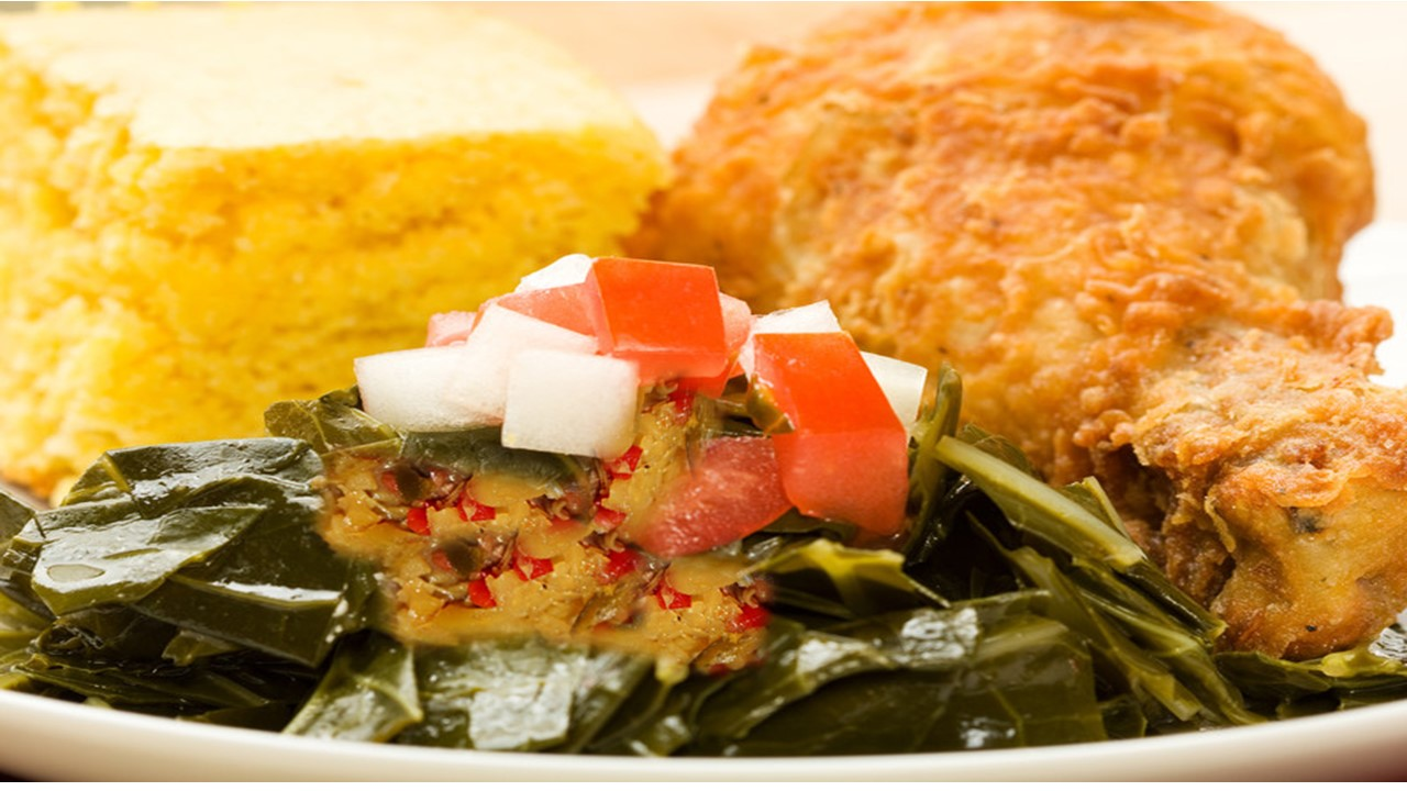 Winfrey Foods Collards and Chicken.JPG