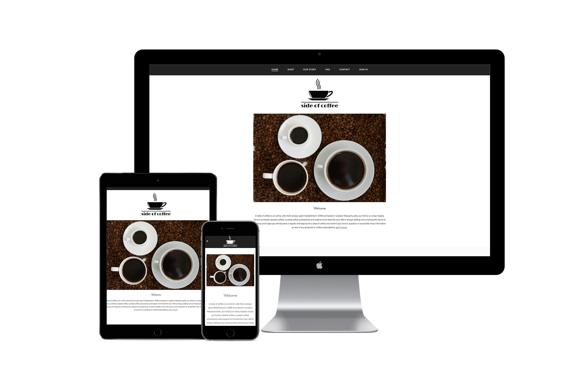 Website Design for a Coffee Retailer