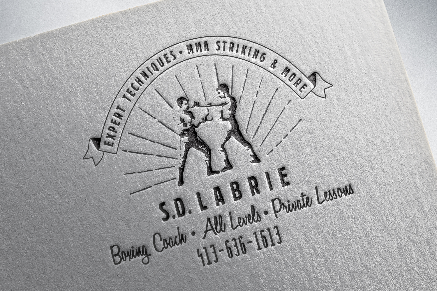 Visual Identity for a boxing coach