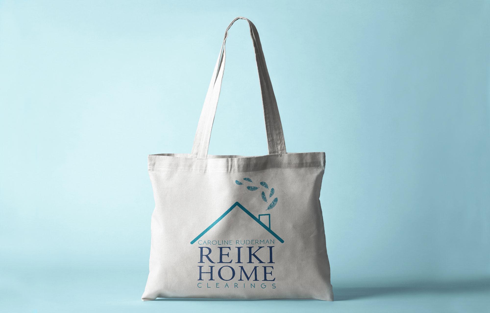 Reiki graphic design, reiki logo, logo design, graphic design in Easthampton, custom designed tote, custom logo, custom business branding, business branding, why branding is important