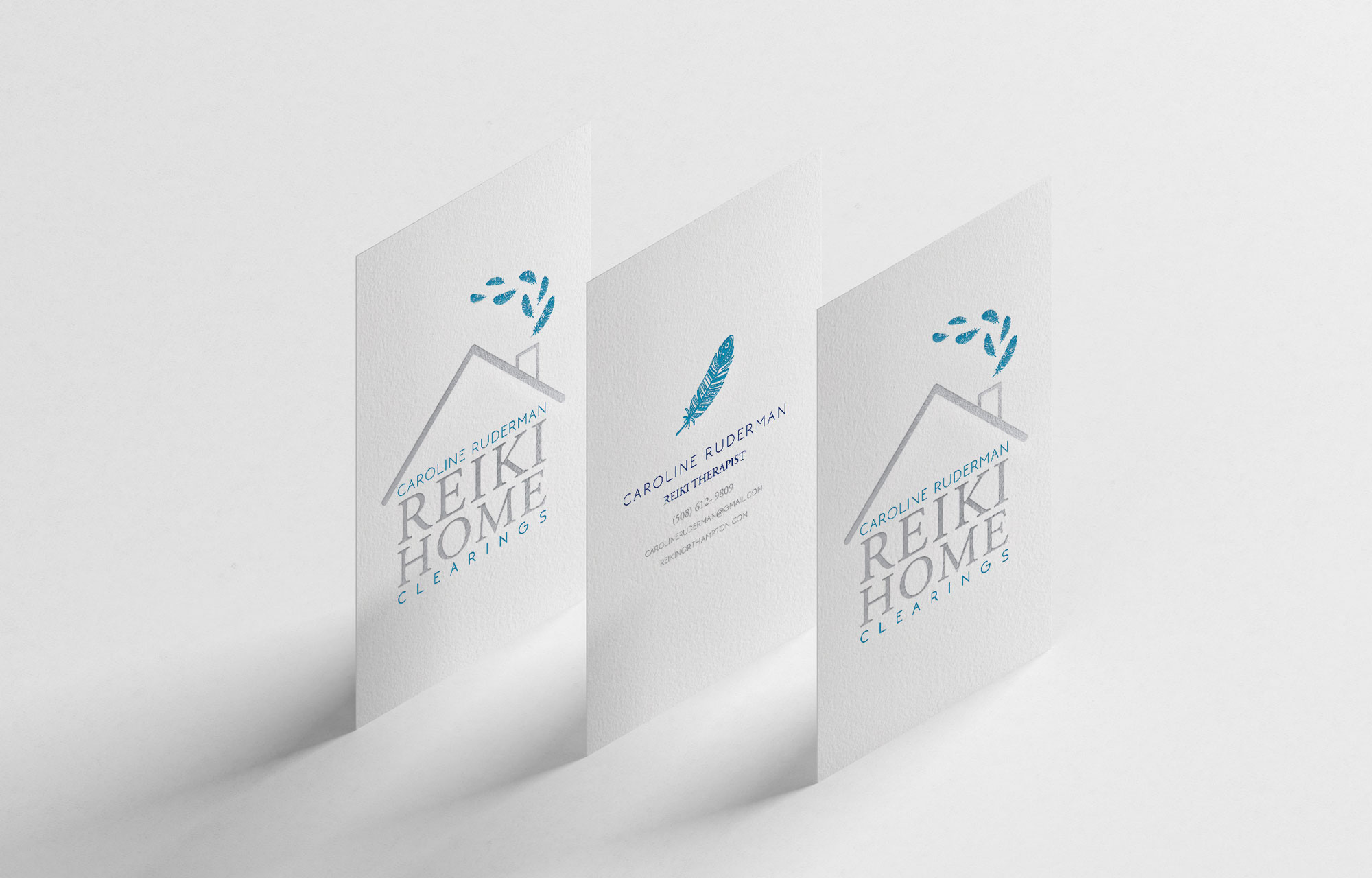 Business Card Design in Northampton, Northampton Graphic Designer, Graphic Design in Amherst, Logo design, Logo design with house, Light and modern logo design, logo designer, branding design, marketing design.