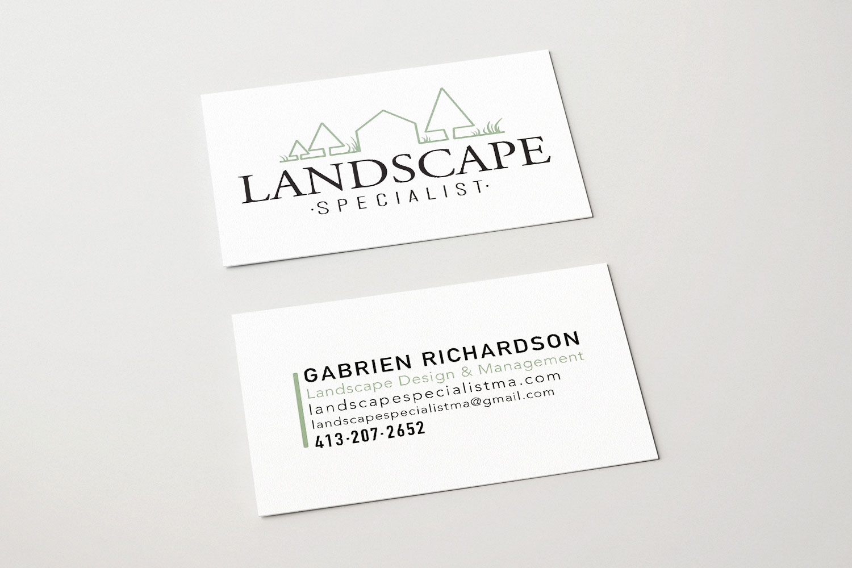Graphic Design project, business card design, Northampton, MA