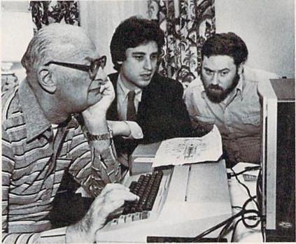 Arthur C. Clarke with Byron Preiss and David M. Harris