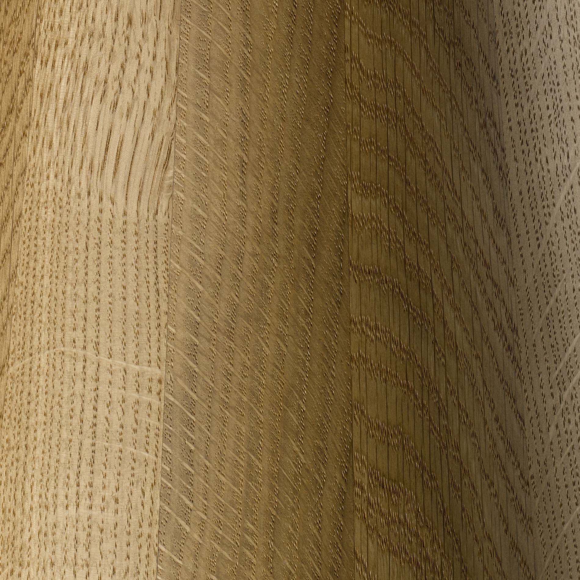 OILED OAK - Natural and finished with a clear microporous hard wax / oil.