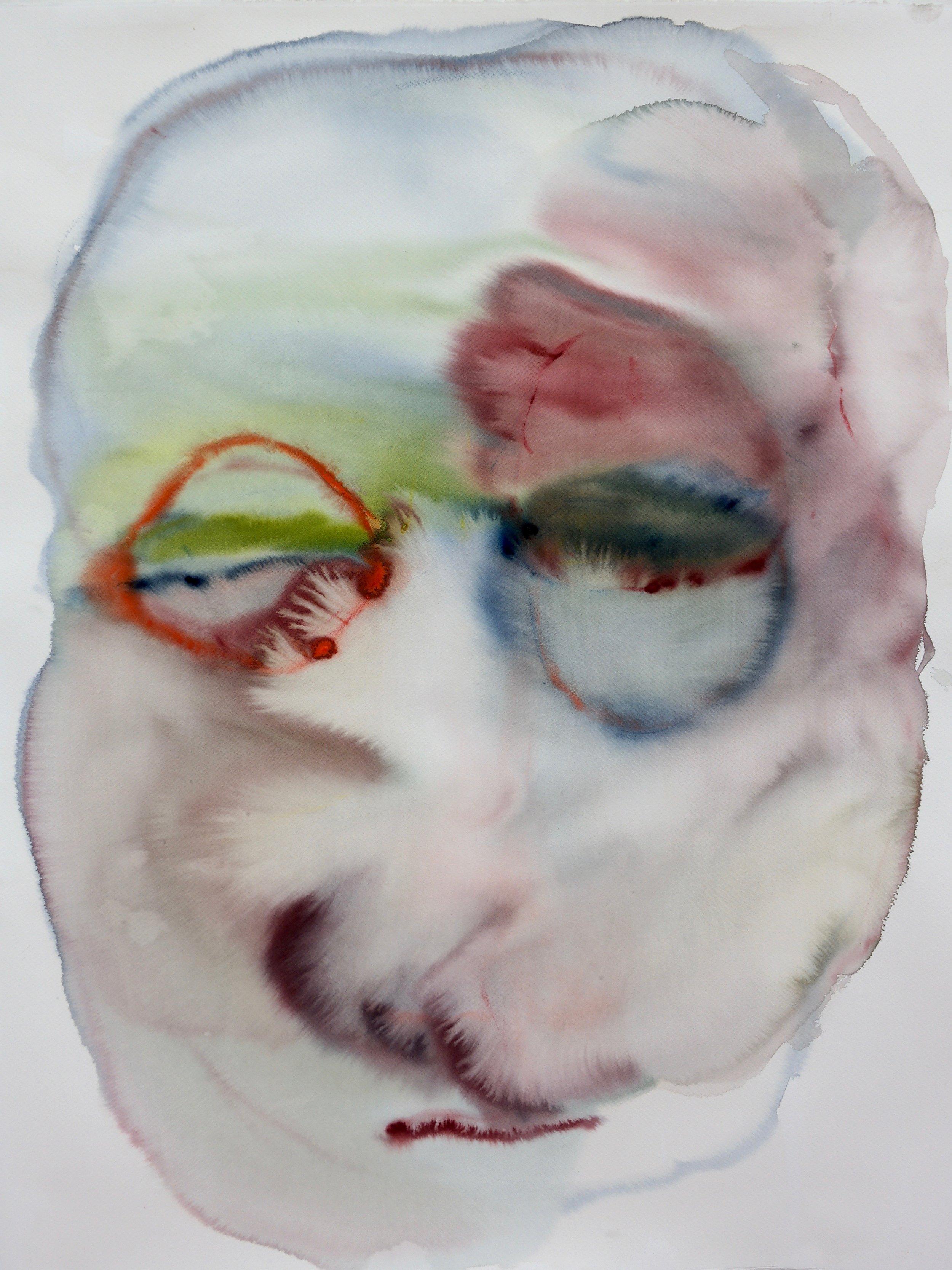 Gib mir mein Gesicht zurück,  2016 , Serie aus 5 Aquarellmalereien auf Papier, alle ca 100 x 130 cm