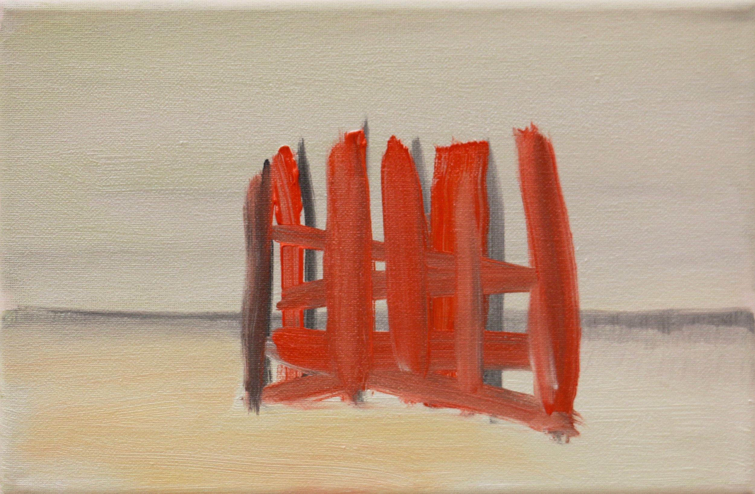 nach Jean- Marc Bustamante- Consolation 1&2 (1992) , Dezember 2016, Öl auf grundierter Baumwolle, ca 20 x 30 cm