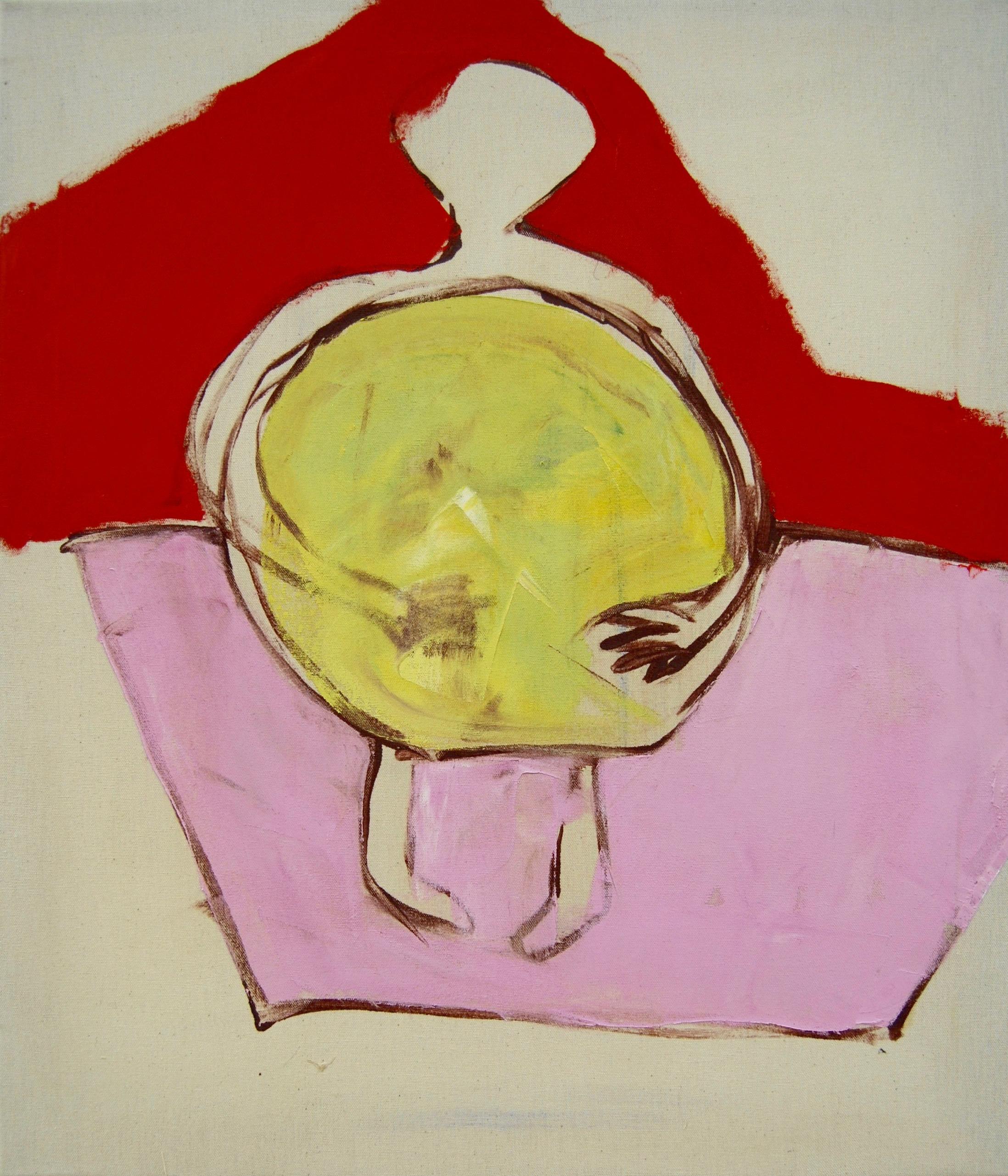 nach Angela Bulloch, Mat Light Piece, Green  (1997), Dezember 2016, Öl auf ungrundierter Baumwolle, 60 x 90 cm