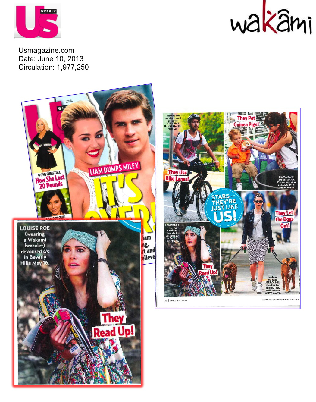 LouiseRoe wearing Wakami is Us Weekly (use with photos - each set up has photos and a magaizne shot.jpg