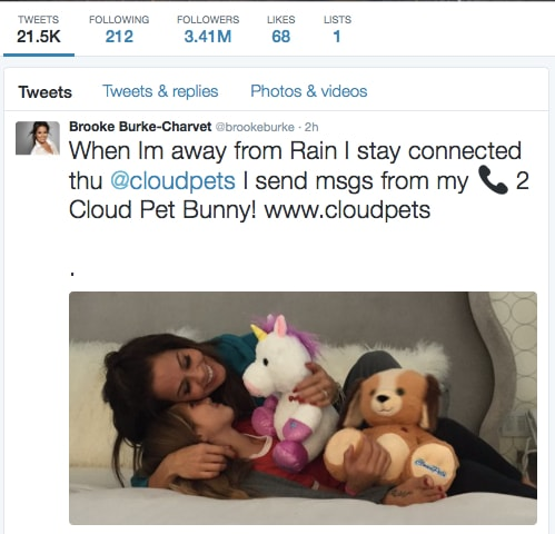 Brooke Burke X Cloud Pets