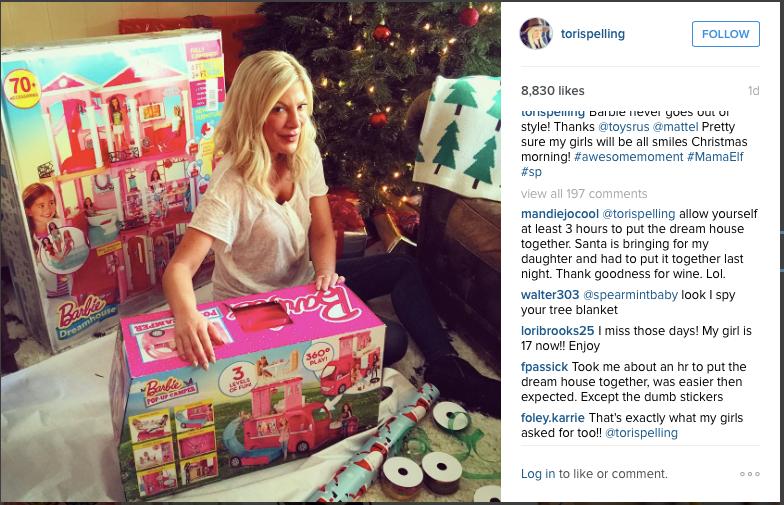 Tori Spelling X Barbie