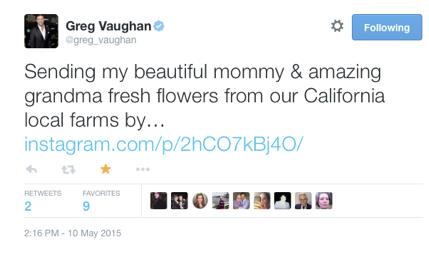 Greg Vaughn X Farm Girl Flowers