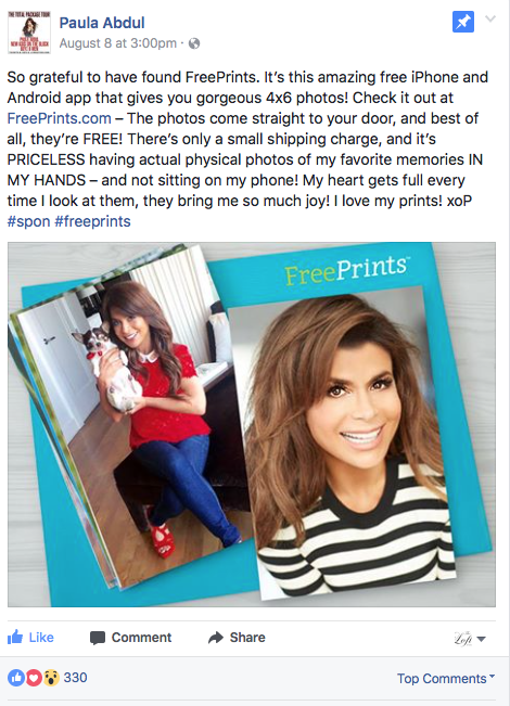 Free Prints x Paula Abdul