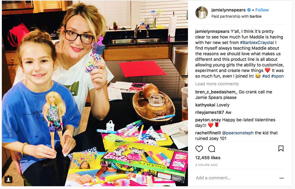 Jamie Lynn Spears x Barbie/Crayola