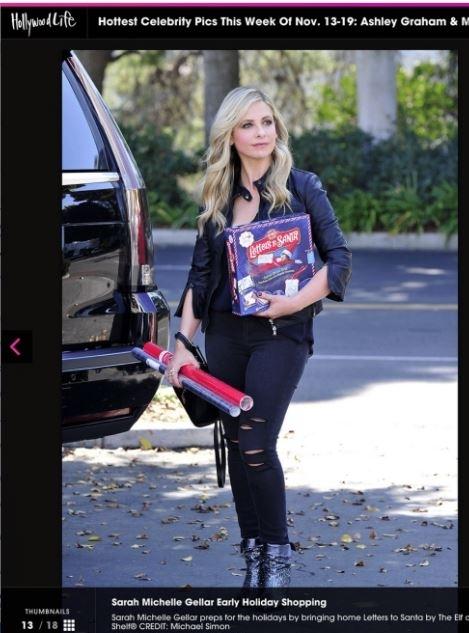 Sarah Michelle Geller X Elf on The Shelf Hollywood life.JPG