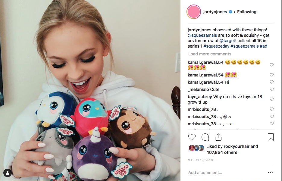 Jordyn Jones x squeezamals