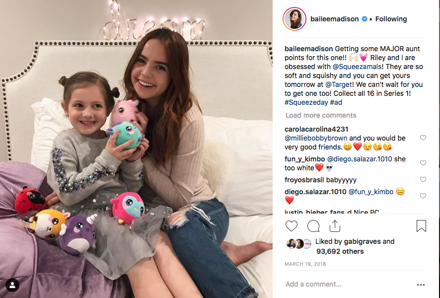 Bailee Madison x squeezamals