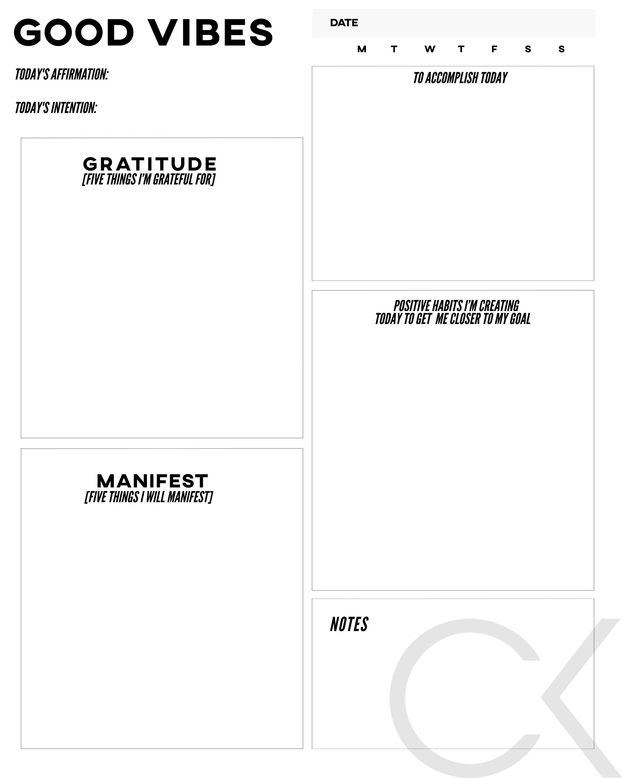 Click to download printable