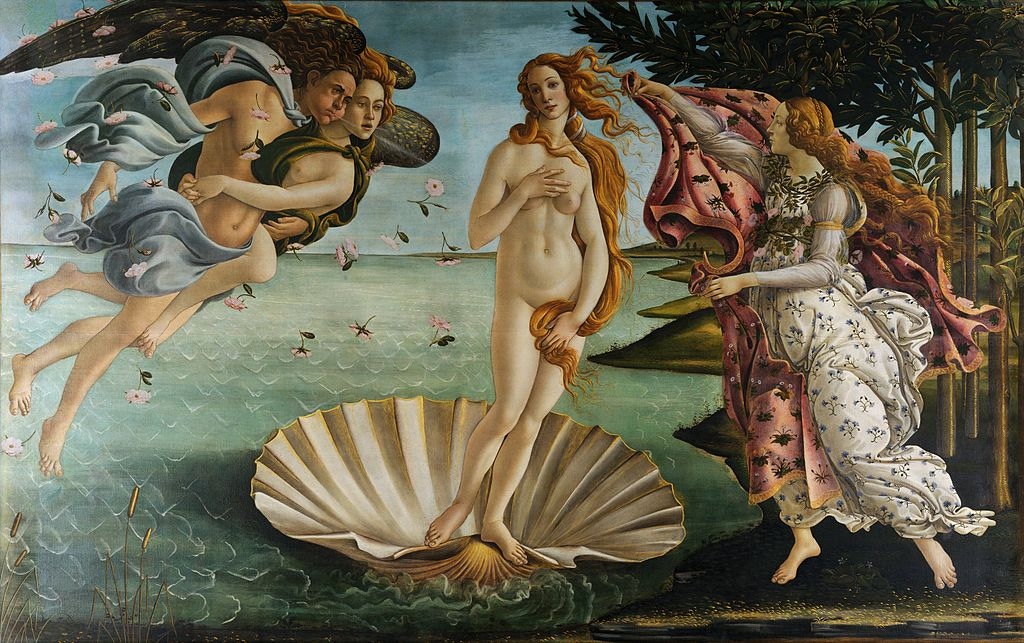 Sandro Botticelli, Birth of Venus, c.1484-86 tempera on canvas.
