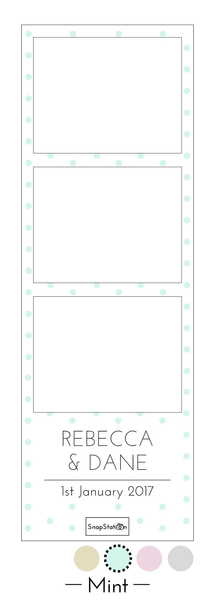 SnapStation personalised mint dots photo template