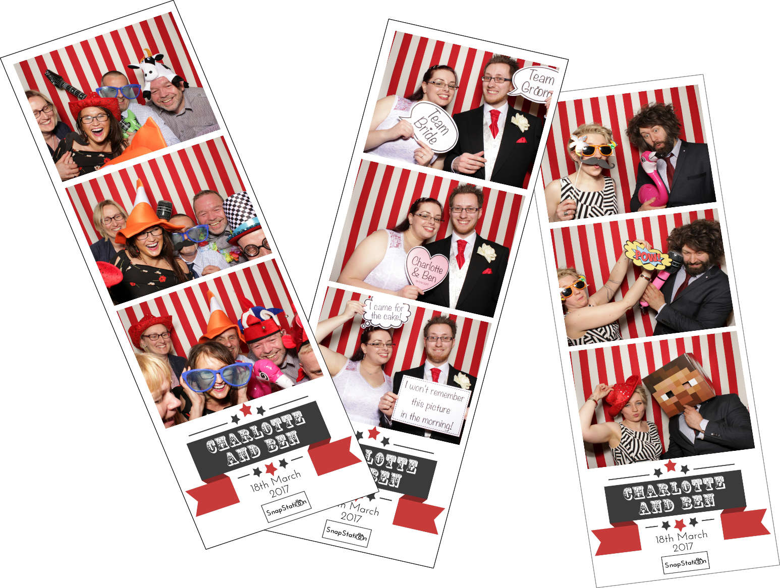 Personalised photo booth prints