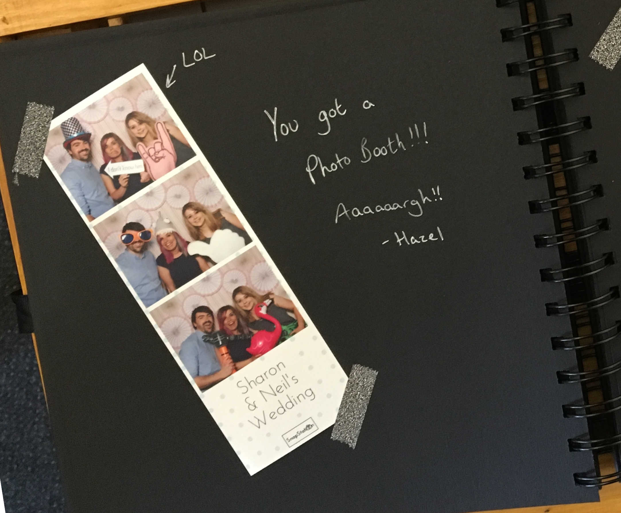 SnapStation photo booth - personalised photo album.