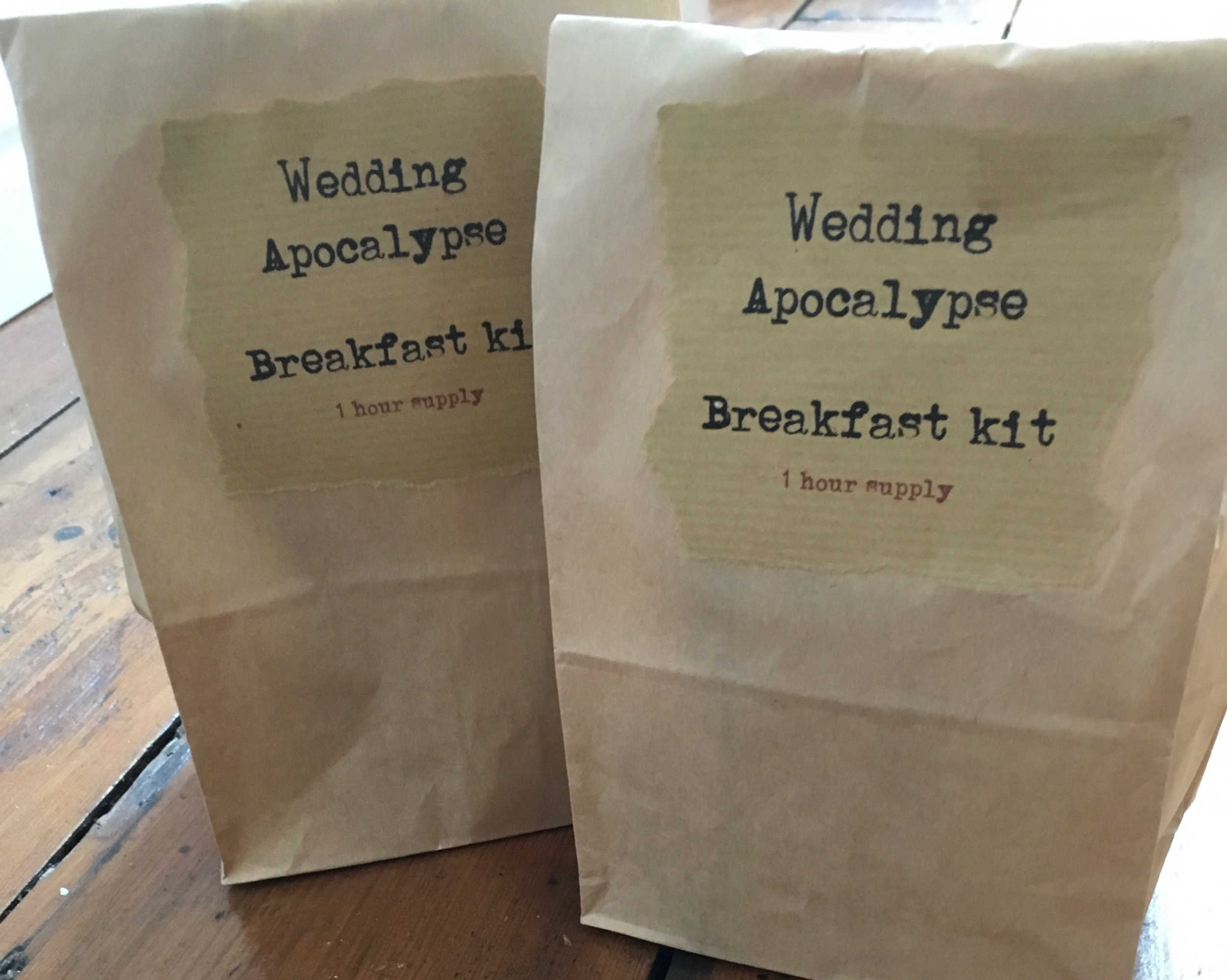 Wedding Breakfast kit.