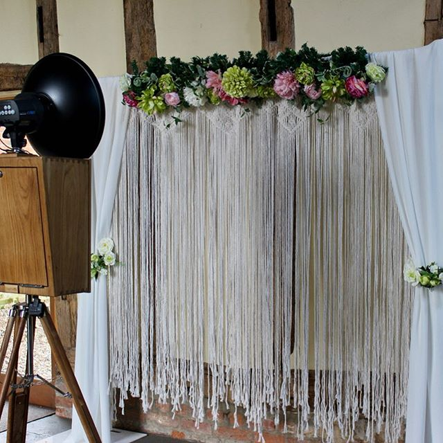 Hope everyone had a fabulous Valentine's Day! We're head over heels in love with our new boho-style macrame backdrop - available now with any of our hire packages! 💕