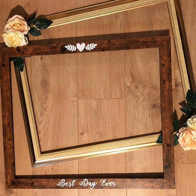 We have been busy creating two new frame props... ready to strike a pose with at our upcoming weddings 🎩 👰