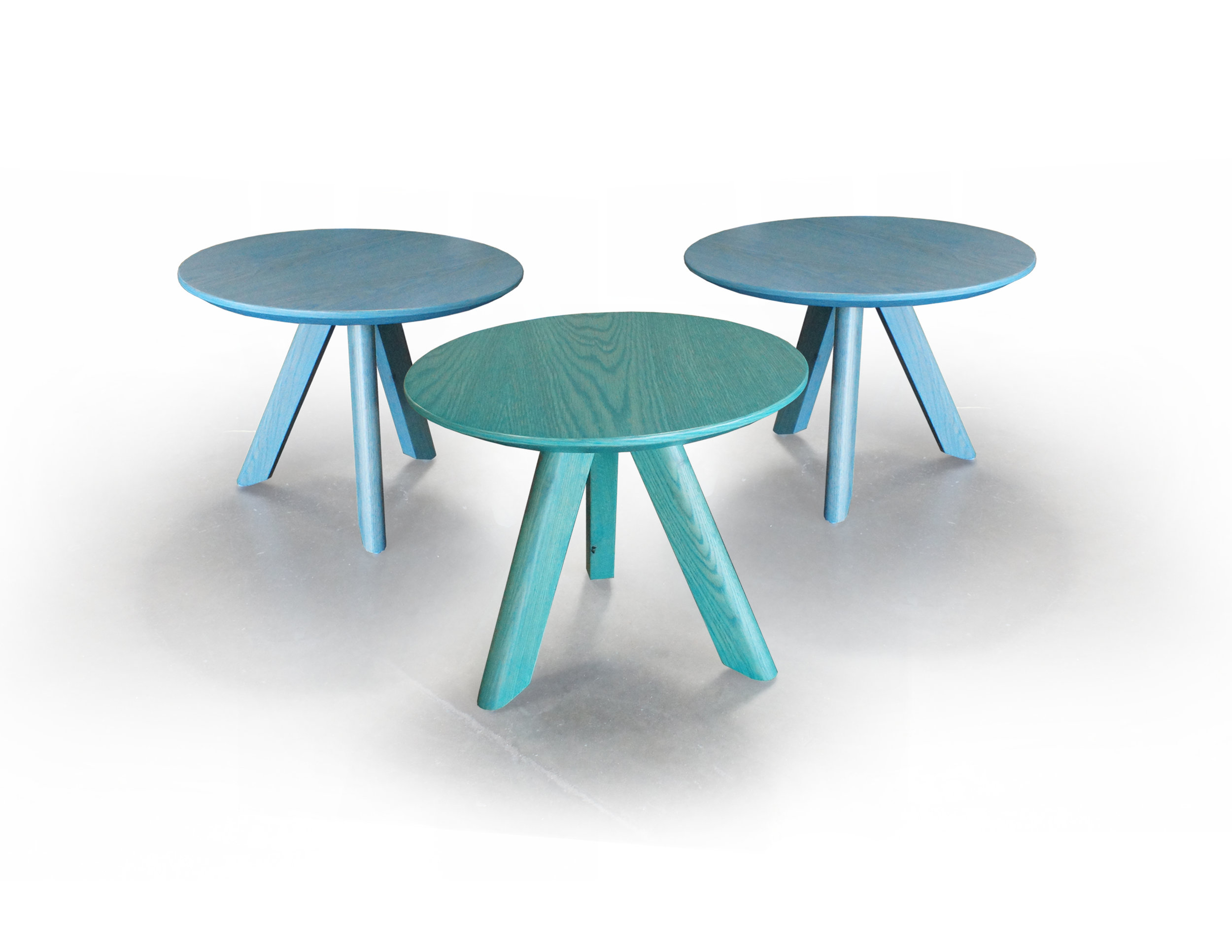 PAINTED ASH OCCASIONAL TABLES