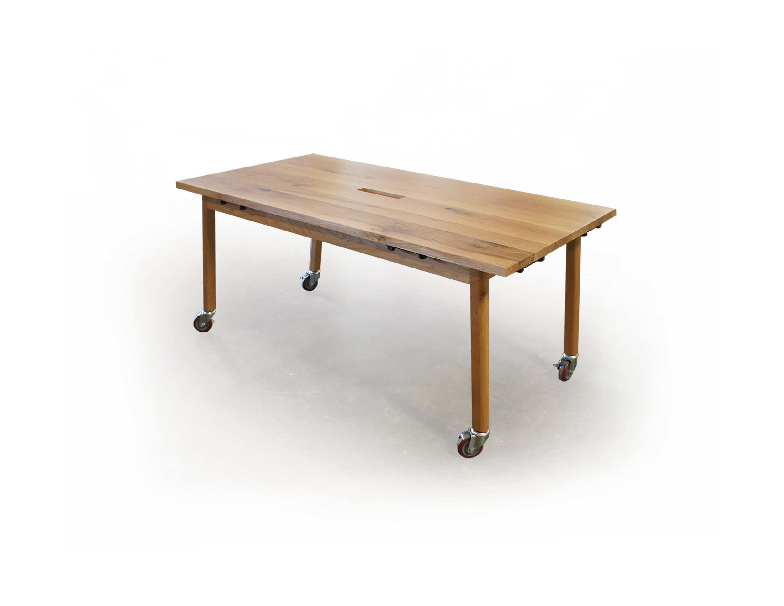 RUSTIC WHITE OAK TRAINING TABLE