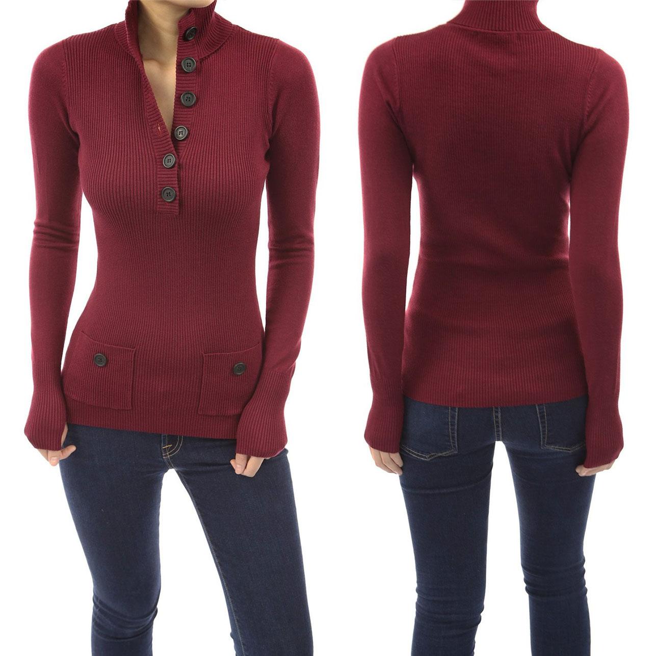 V-Neck Buttondown Sweater by PattyBoutik