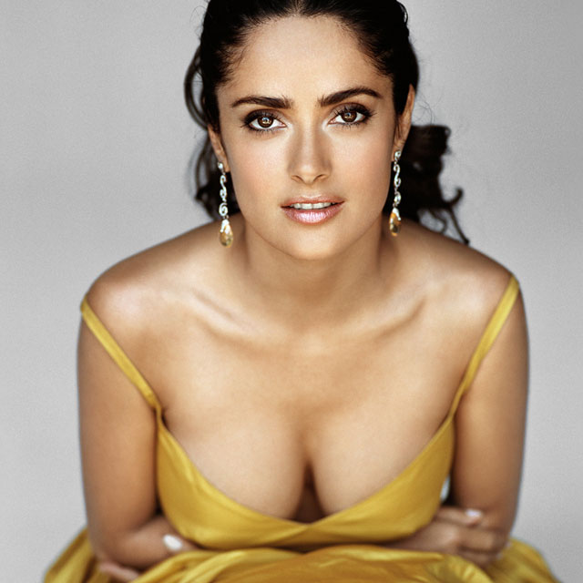 Salma Hayek Breast Implants