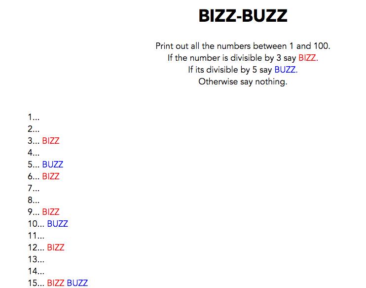 Bizz Buzz