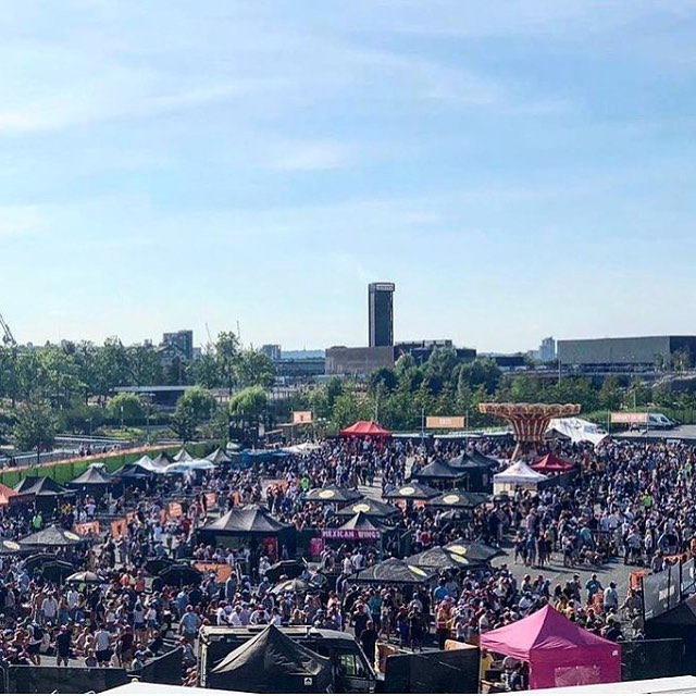 shout out @londonwingfest & @randyswingbar for putting on the event of the summer | me and my old man were at the first one 4 years ago as punters | today we gear up for our second day of trading here. ❤️