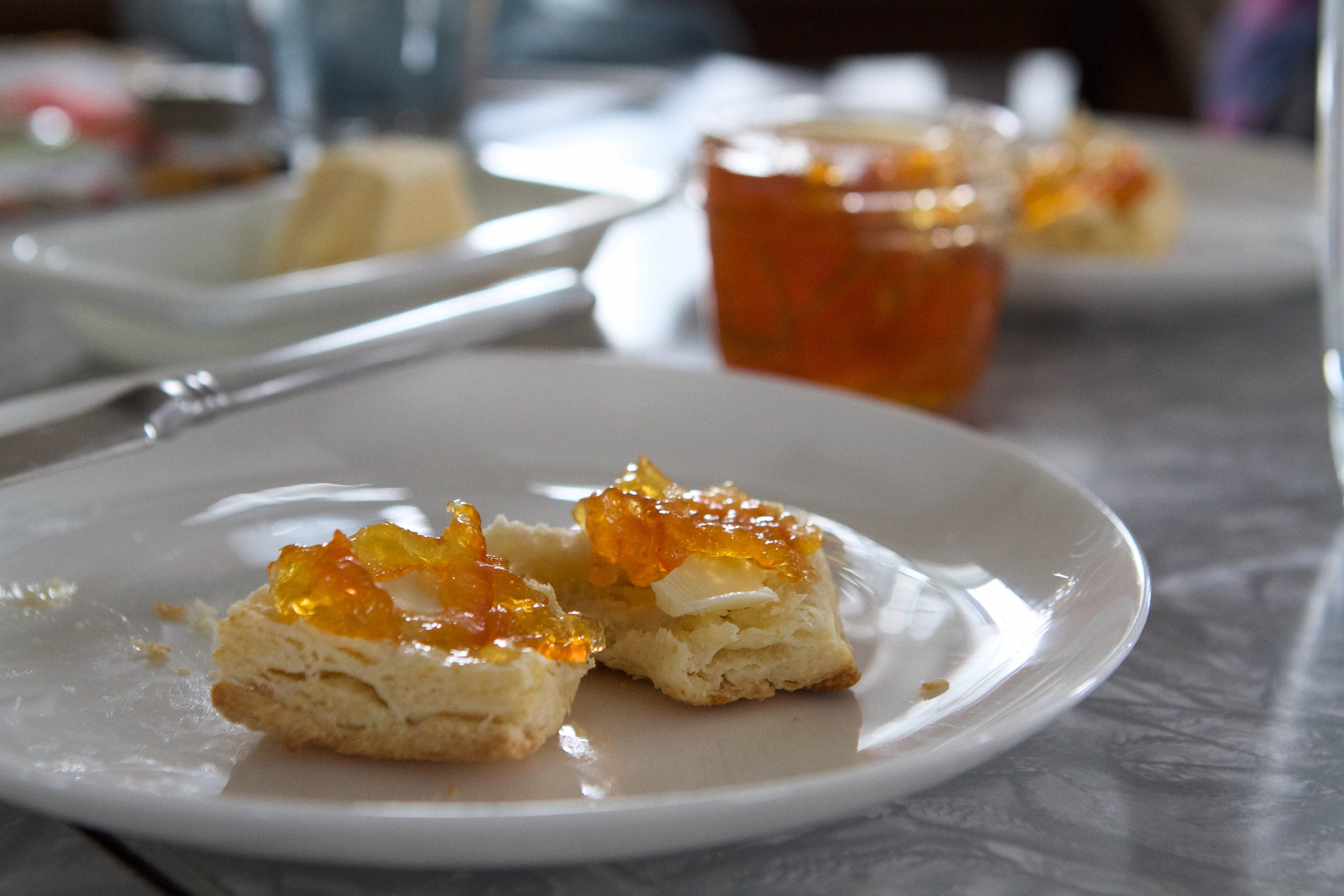 biscuits with marmalade