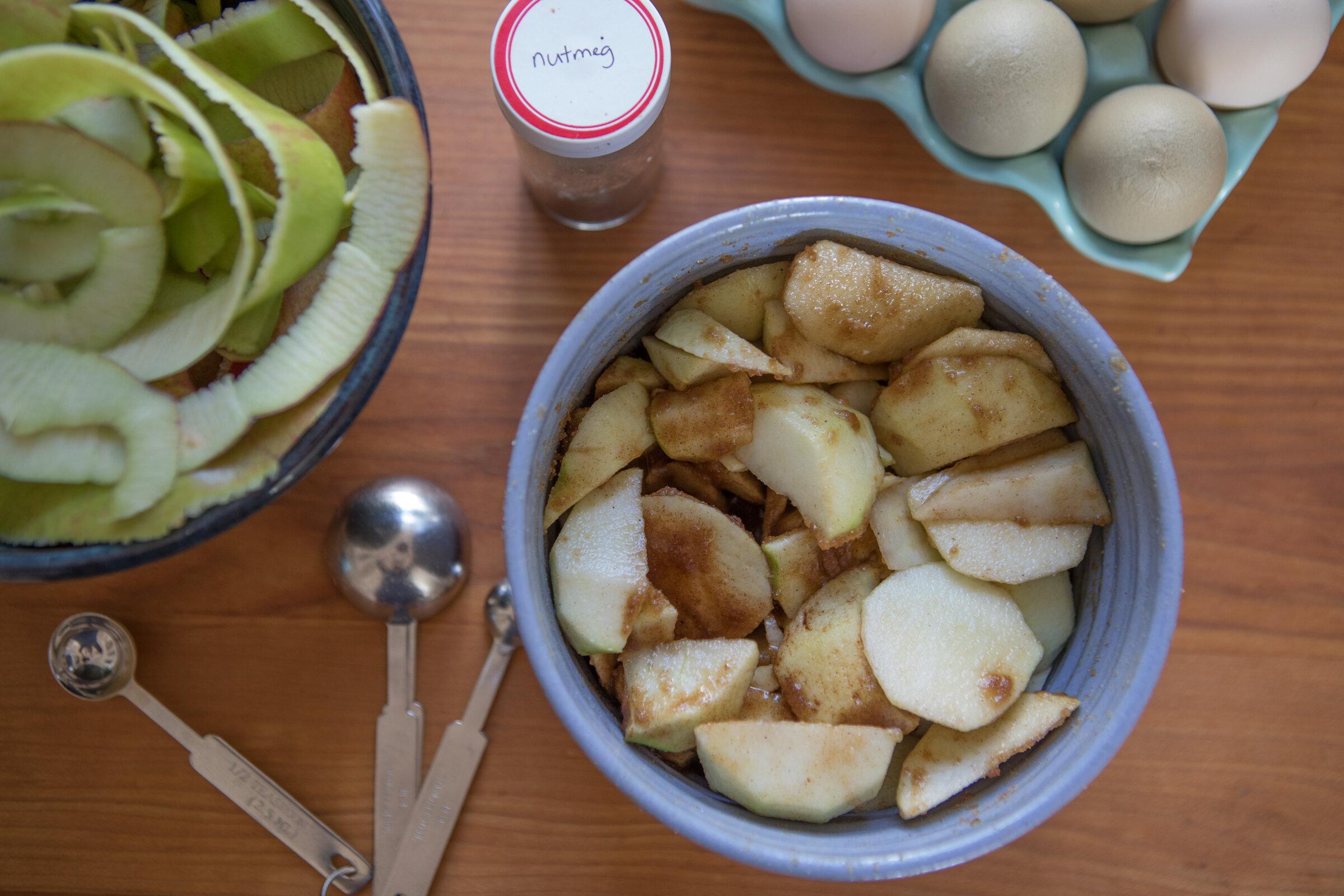 Apple Pudding beginning