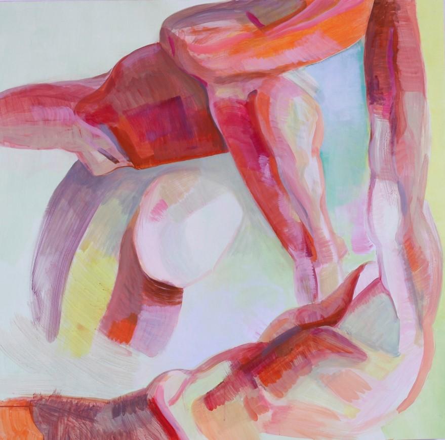 "Interaction, acrylic on canvas, 48"" x 48"", 2016"