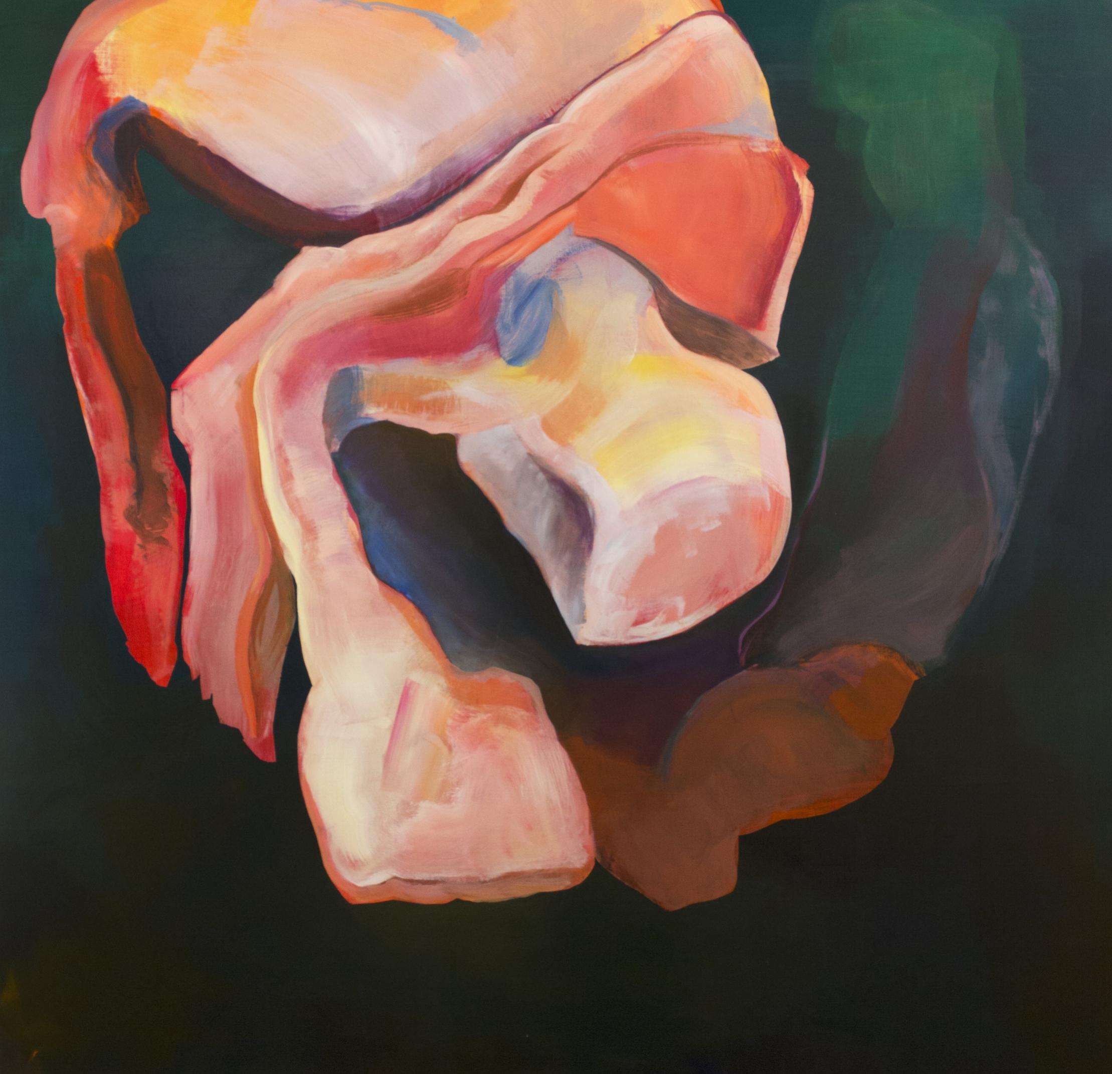 "Inner Body, acrylic on canvas, 48"" x 48"", 2016"