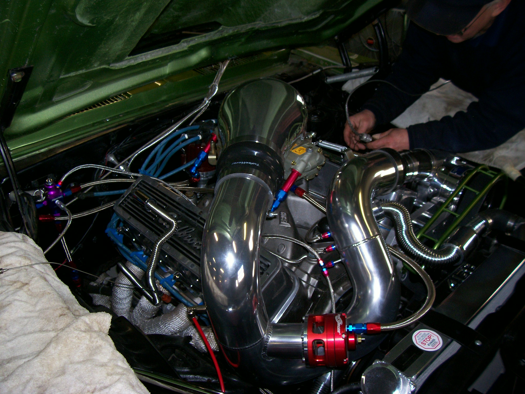 small block chevy-supercharged- salvo borthers