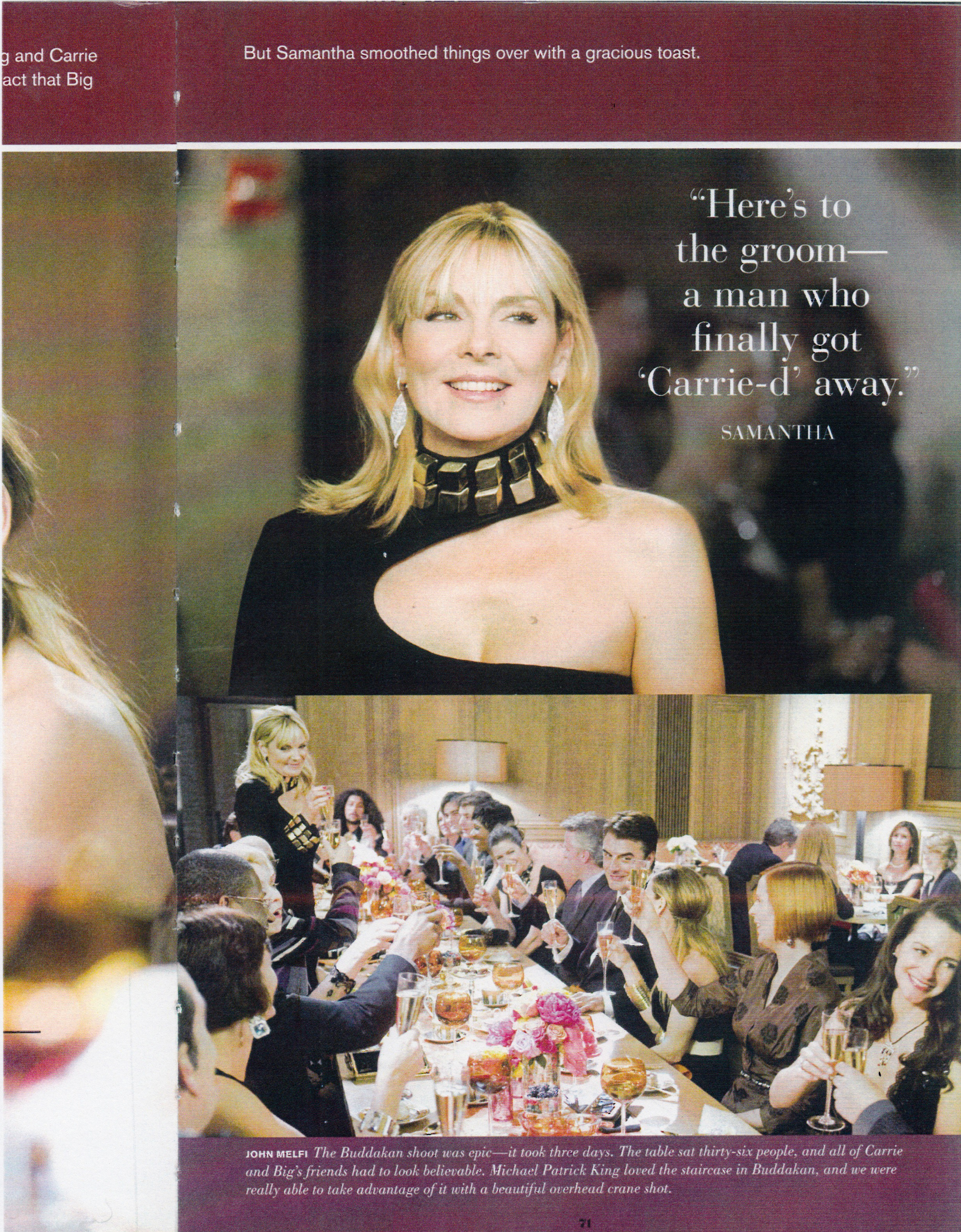 Samantha Jones (Kim Cattrall) in CD Greene in the Sex and the City Movie