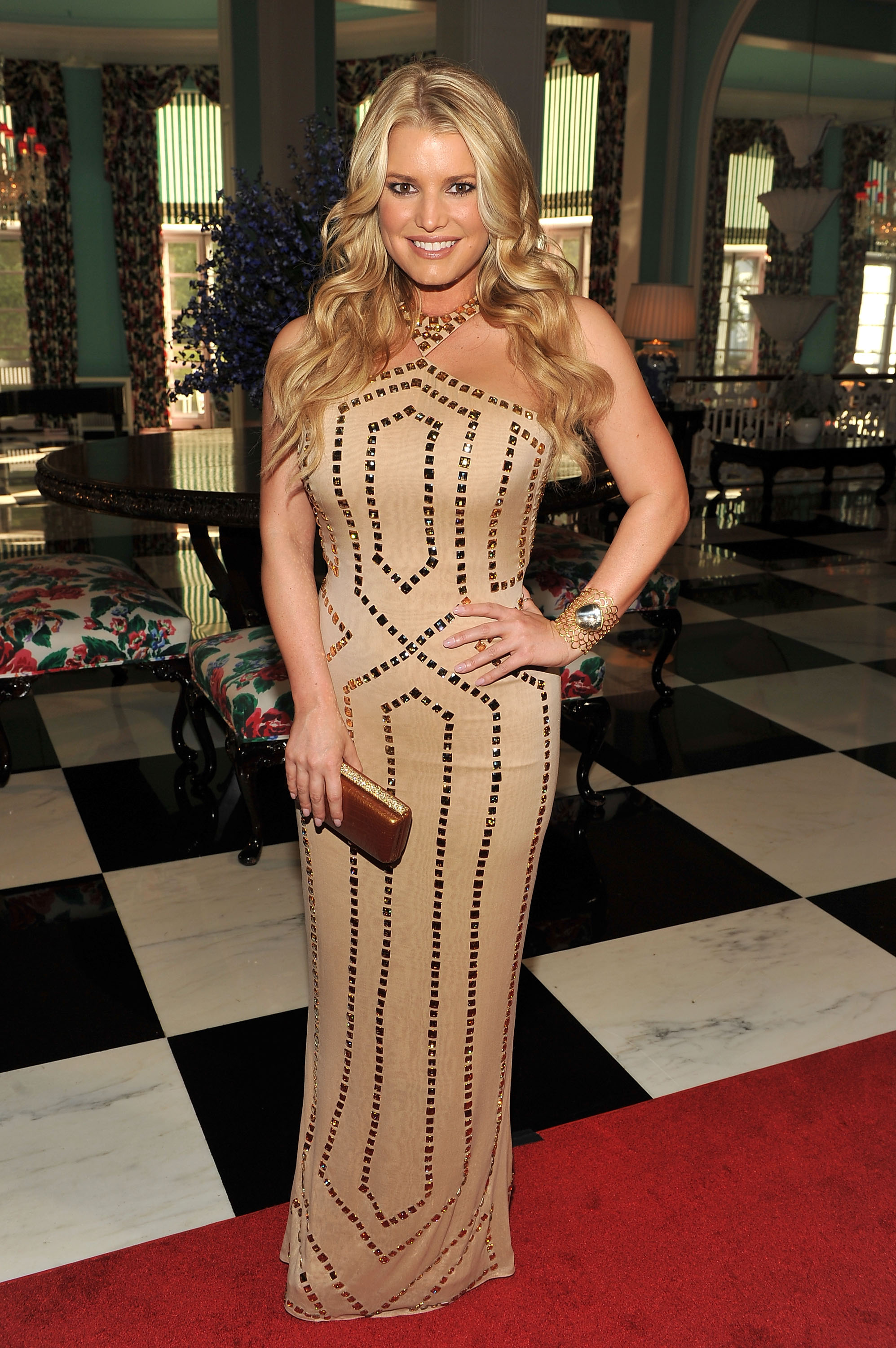 Jessica Simpson attends The Greenbrier for the gala opening of the Casino Club, 2010