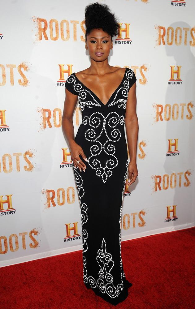 Emayatzy Corinealdi attends 'Roots' Night One Screening, May 2016