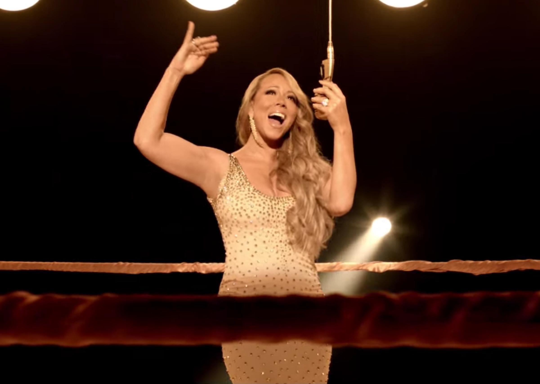 "Mariah Carey in ""Triumphant (Get 'Em)"" music video, 2012"
