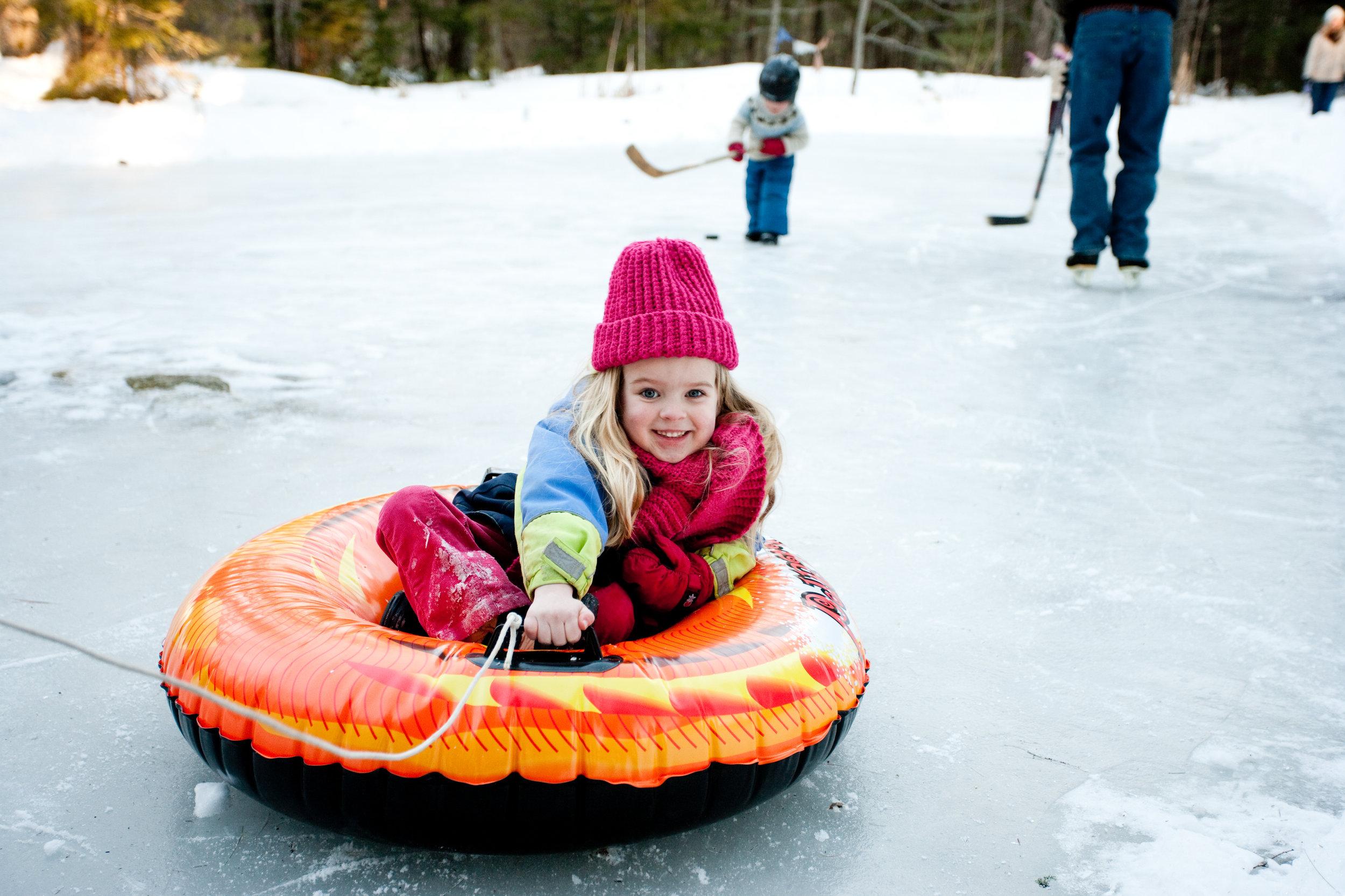 <b>ICE SKATING & SLEDDING</b><br>Martin Family