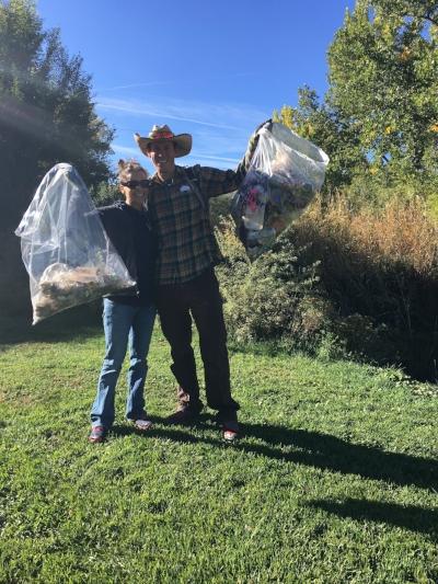 Volunteers help clean Rifle Creek on Oct 7th!