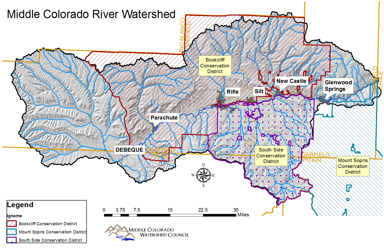 An overview of the middle Colorado River watershed and its Conservation Districts.