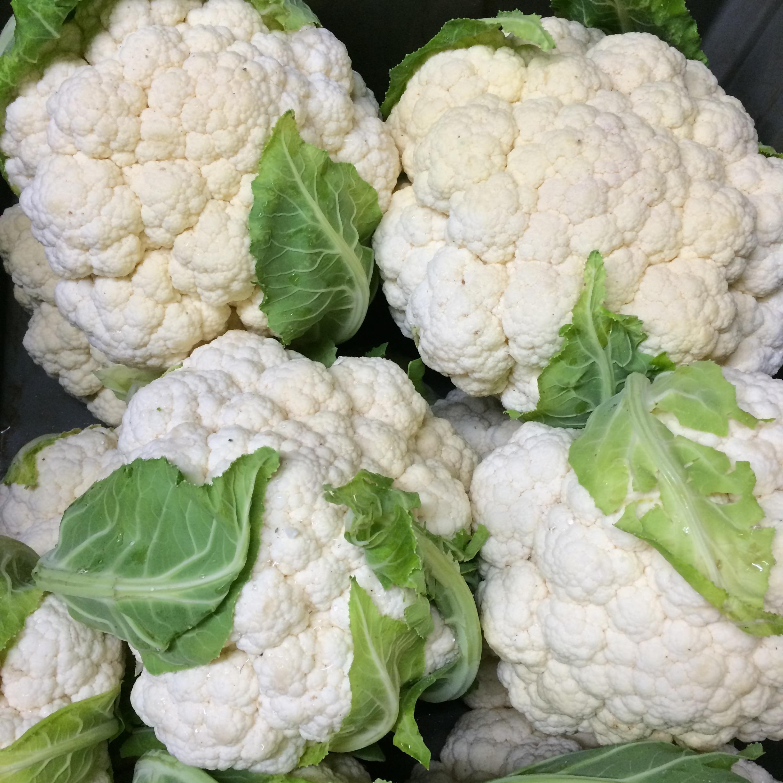helsing junction farms csa cauliflower pile