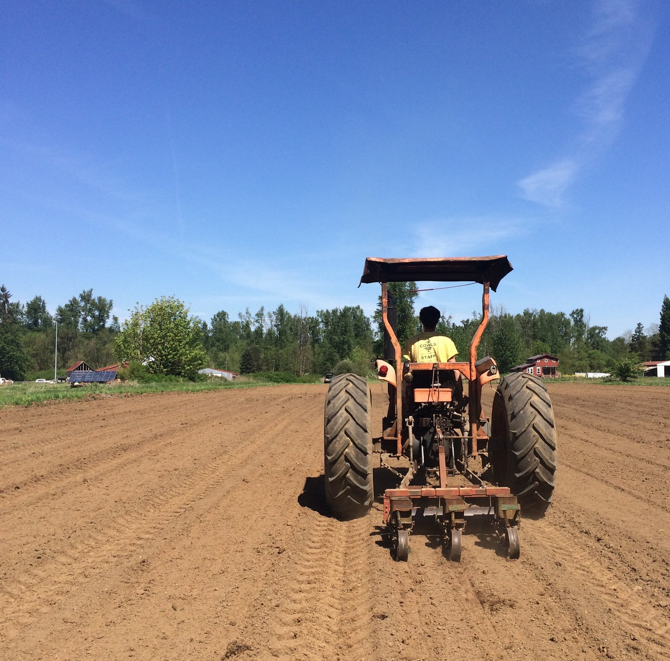 Helsing Junction Farms CSA tractor